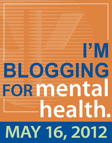 Show your support of Mental Health Month Blog Party 2012 with this blog badge.  (PRNewsFoto/American ...