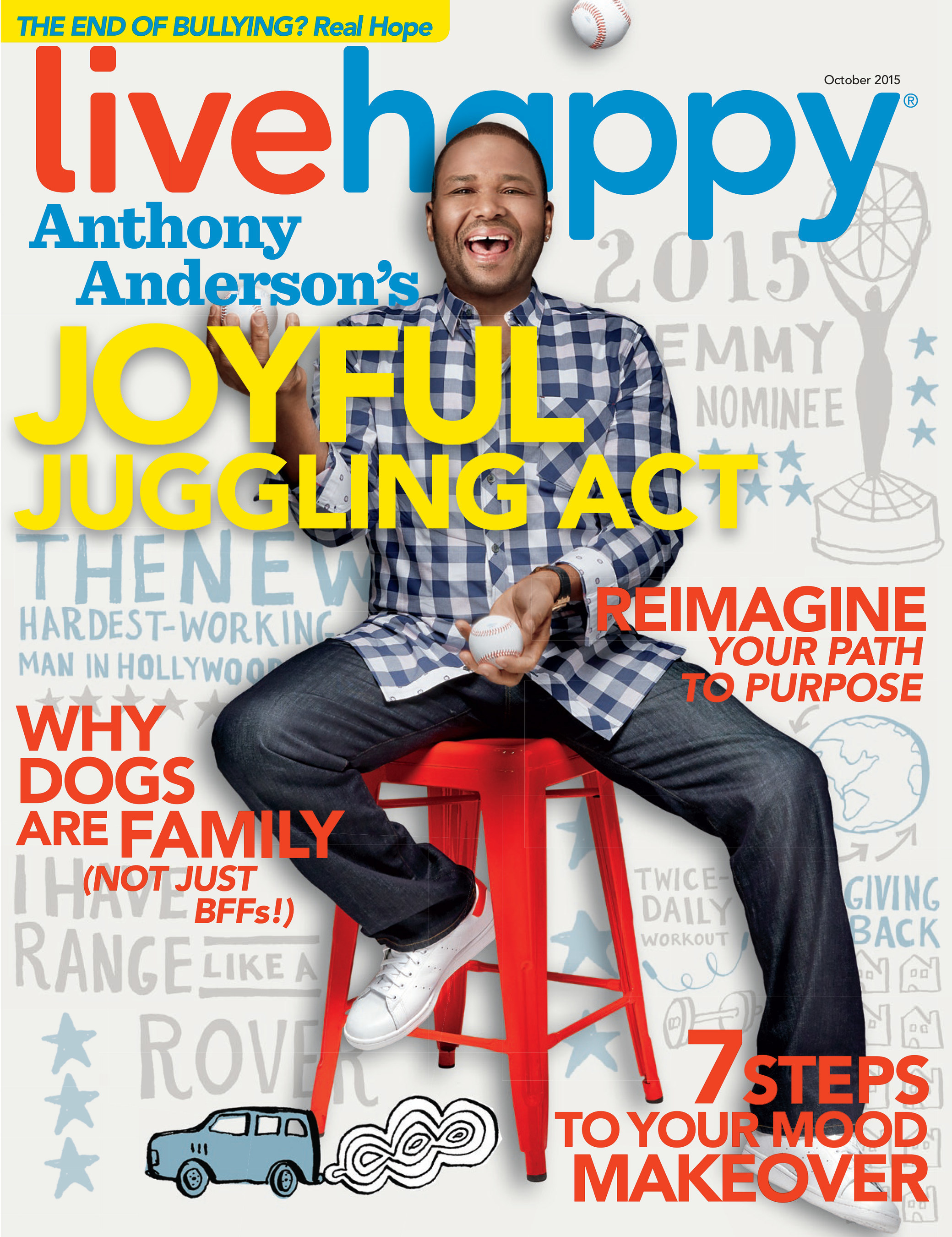 Live Happy Magazine Features Anthony Anderson on Cover of September/October Issue