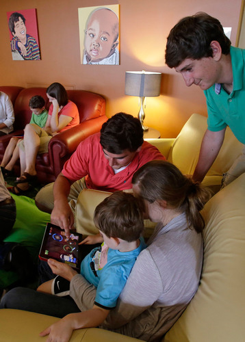 James, 18, and Christian, 16, Delligatti co-founded the Lilli's Happy Pad project, a loaning library of ...