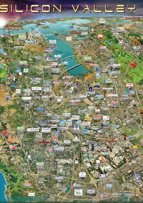 Silicon Maps USA Series - Silicon Valley.  (PRNewsFoto/Silicon Maps, Inc.)