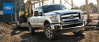 The 2014 Ford Super Duty F-250 comes available with an extremely capable 6.7-liter, V-8 Turbo Diesel engine.  (PRNewsFoto/Matt Ford)