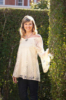 Missy Robertson of A&E's Duck Dynasty launches clothing line in collaboration with Southern Fashion House. The Spring Collection will debut in Atlanta, Dallas and Las Vegas, January 2014. The line consists of approximately 55 pieces including dresses, sportswear, light coverups and mix-and-match tops that are versatile and affordable. Vibrant colors, patterns with textures of crochet and embroidery bring exquisite detail to the line. Slightly longer hemlines, varying sleeve options and shapes result in figure-flattering fashion that is age appropriate and contemporary appealing to busy, working moms although intended to flatter women of all ages, shapes and sizes.  (PRNewsFoto/Southern Fashion House)