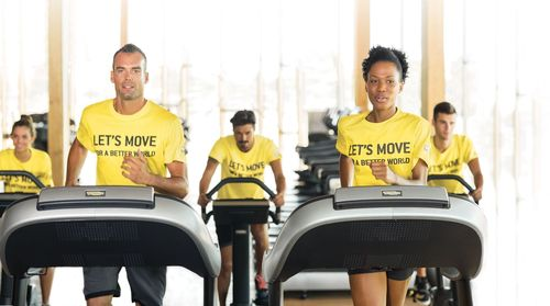 """Technogym has been selected as """"Official Wellness Partner"""" at the 2015 Milan Expo and it will launch the """"Let's Move for a Better World"""" social campaign that enables you to convert physical exercise into school meals for countries affected by malnutrition in collaboration with the United Nations World Food Programme (PRNewsFoto/Technogym Spa)"""