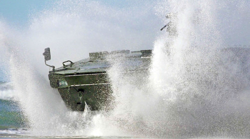 Lockheed Martin's Havoc 8x8 Completes Swim Tests In Marine Personnel Carrier Competition