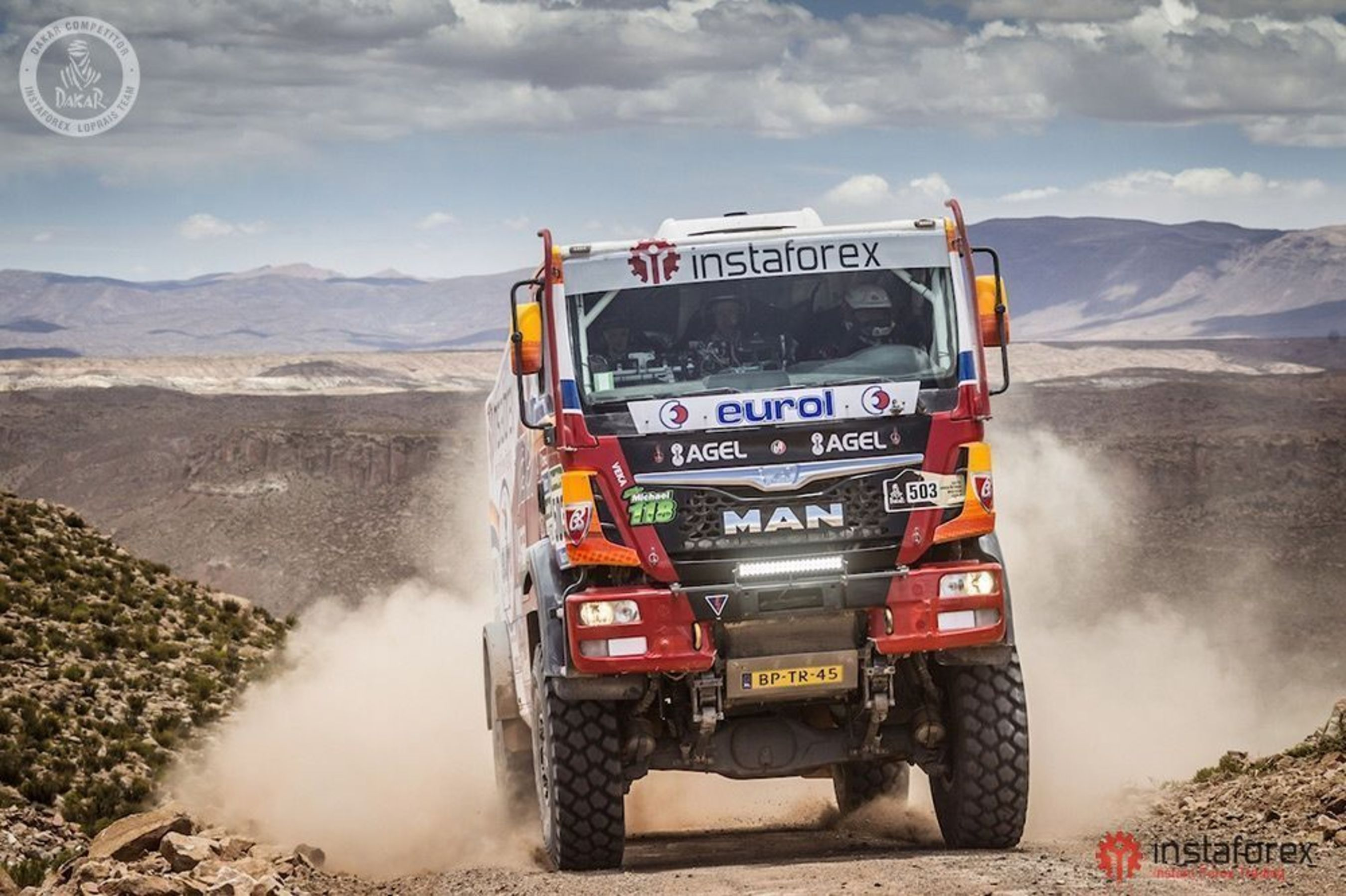 InstaForex Loprais Team struggles for the victory in the truck category (PRNewsFoto/InstaForex)