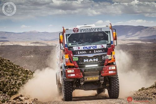 InstaForex Loprais Team struggles for the victory in the truck category (PRNewsFoto/InstaForex)