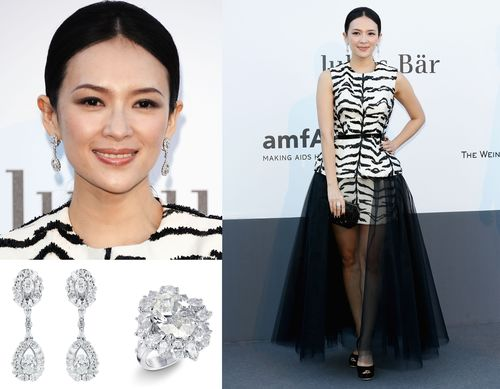 Zhang Ziyi Rocks The Cannes Red Carpet With Mouawad.