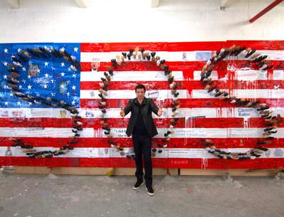 David Datuna in his studio