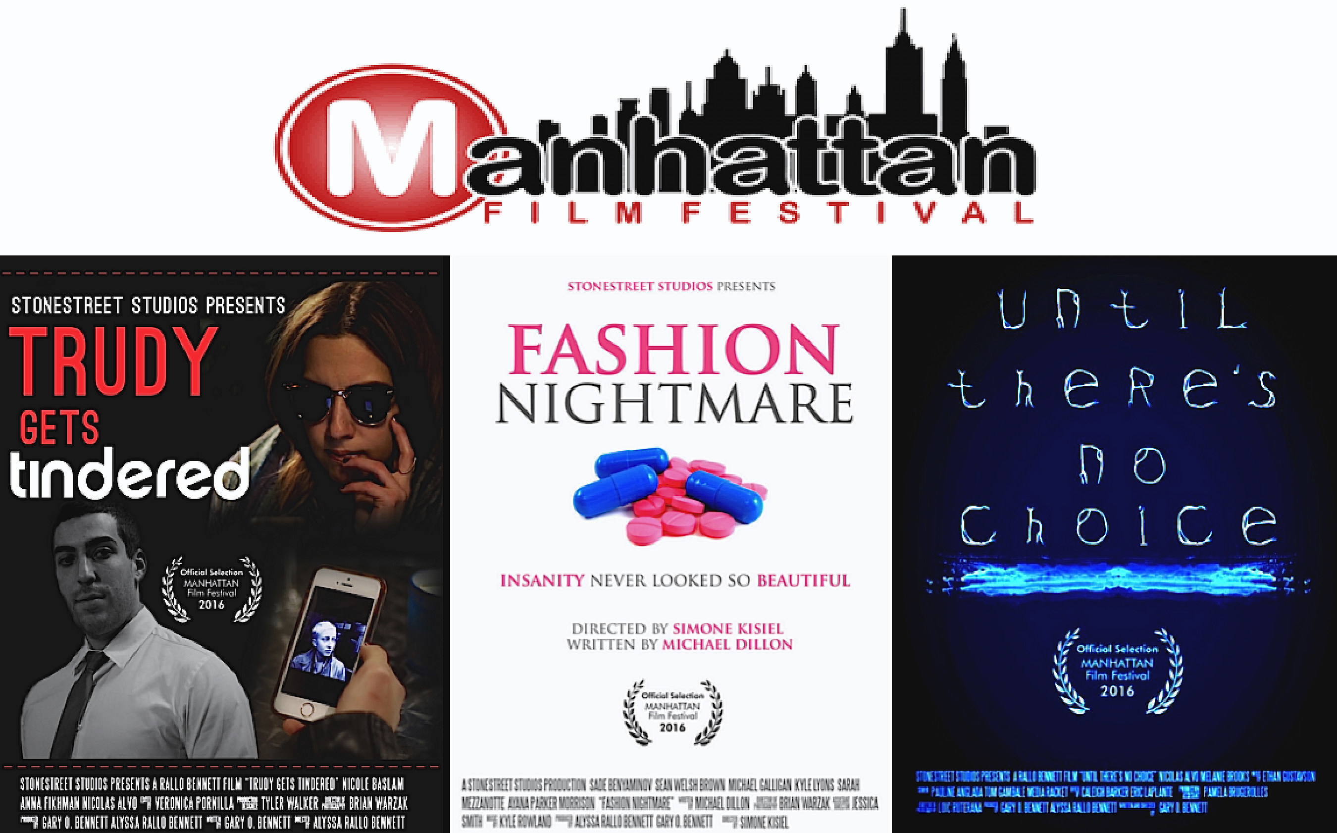 Stonestreet Shorts Take Off - Three Films Featured in Manhattan Film Festival and Licensing Deal with Shorts HD Imminent.