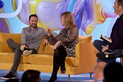 Media titans Arianna Huffington and Evan Williams kick off the inaugural Near Future Summit.