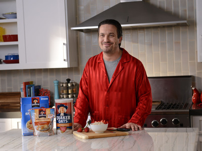This Valentine's Day, Heartthrob Chef Fabio Viviani And Quaker(R) Oats Show Women Why Breakfast Has Never Been So Hot.  (PRNewsFoto/The Quaker Oats Company)