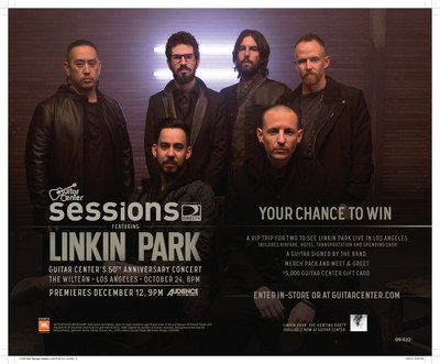 GUITAR CENTER CELEBRATES 50th ANNIVERSARY WITH LINKIN PARK CONCERT PREMIERING EXCLUSIVELY ON DIRECTV (PRNewsFoto/Guitar Center)