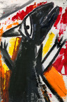 """The Rat,"" by Haile King-Rubie, is on display at FEGS' Hudson Square Art Gallery. The piece is part of From Different Directions, an exhibition featuring artwork created by individuals served at FEGS who are diagnosed with intellectual-developmental disabilities. The exhibit will be on display through March 2014.  (PRNewsFoto/FEGS Health & Human Services)"