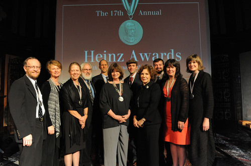 Teresa Heinz and the Heinz Family Foundation Honor Recipients of Prestigious Heinz Awards. Photo from left to ...