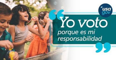 Yo voto porque es mi responsabilidad.