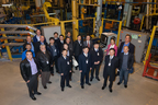 Twenty managers and engineers in the SAE of China delegation toured the Vari-Form Technical Center and plant in Strathroy, Ontario this week. One highlight of the plant tour was a visit to the hydroform production cell that manufactures frame rails for the 2014 Chevrolet Corvette Stingray. (PRNewsFoto/Vari-Form)
