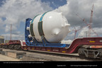 Two core make-up tanks, each weighing 149 tons, for Unit 4 at the nuclear expansion site are the latest international shipments to arrive through the Port of Savannah. Since May 2014, the Port of Savannah has processed more than 24,800 tons of equipment and components for the project.