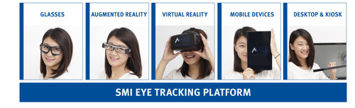 SMI OEM Eye Tracking Platform for desktop, mobile and wearable devices. (PRNewsFoto/SensoMotoric Instruments ...