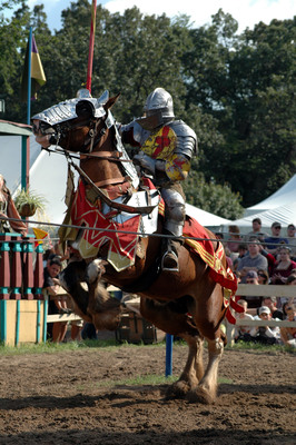 """Sherwood Forest Faire, """"best new renaissance fair in the nation,"""" opens Feb. 9, runs through March, and provides a medieval experience full of music, comedy &  drama, including full-contact heavy armor jousting, falconry shows, feasts, and wine tastings. Based on tales of Robin Hood & his Merry Men, it sets on 23-acres in the Lost Pines Region just east of Austin, complete with period shoppes, pubs, restaurants and stages, not to mention knights, wizards, faeries, pirates and other surprises!  (PRNewsFoto/Sherwood Forest Faire)"""