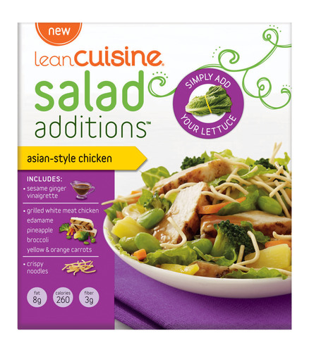 The Balance Your Plate approach to balanced nutrition extends to new Nestle USA product lines. Concepts like LEAN CUISINE Salad Additions were created to increase consumption of vegetables, while still giving consumers great taste and convenience.  (PRNewsFoto/Nestle USA)