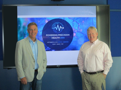 Kevin Hrusovsky, Founder & Chairman of Powering Precision Health 2016, and John Houston, Ph.D., Steering Committee Member, prepare for inaugural summit to launch on September 26th at the Boston Marriott Cambridge. www.pphsummit.com. Mission: Powering Precision Health aims to establish a new paradigm for healthy living by fostering collaboration amongst the world's foremost doctors, researchers, scientists, innovators, investors and policymakers who together work to transform healthcare.