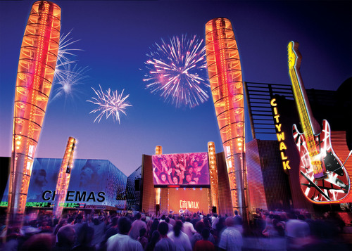 Universal CityWalk Rings in 2014 with Southern California's Biggest New Year's Eve Party.  (PRNewsFoto/Universal Studios Hollywood)