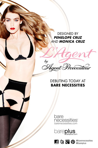 Penelope & Monica Cruz with Agent Provocateur launch their collection on Bare Necessities