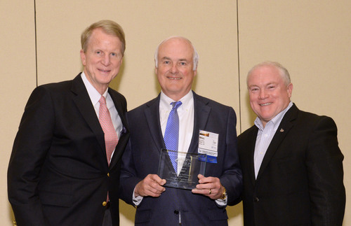 Bill Henry our CEO is pictured with Bobby Reagan, Chairman of Reagan Consulting and Tom Minkler, the current President of IIABA. (PRNewsFoto/MHBT Inc.) (PRNewsFoto/MHBT INC.)