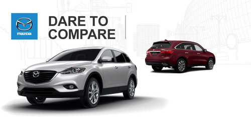 See what happens when Ingram Park Mazda stacks up the 2014 Mazda CX-9 against the 2014 Acura MDX. (PRNewsFoto/Ingram Park Mazda) (PRNewsFoto/INGRAM PARK MAZDA)