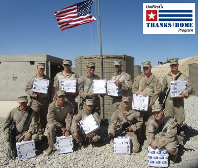 """UniFirst """"care packages,"""" filled with snack foods, toiletries and other needed supplies, have been shipped to U.S. soldiers serving in Afghanistan.  (PRNewsFoto/UniFirst)"""
