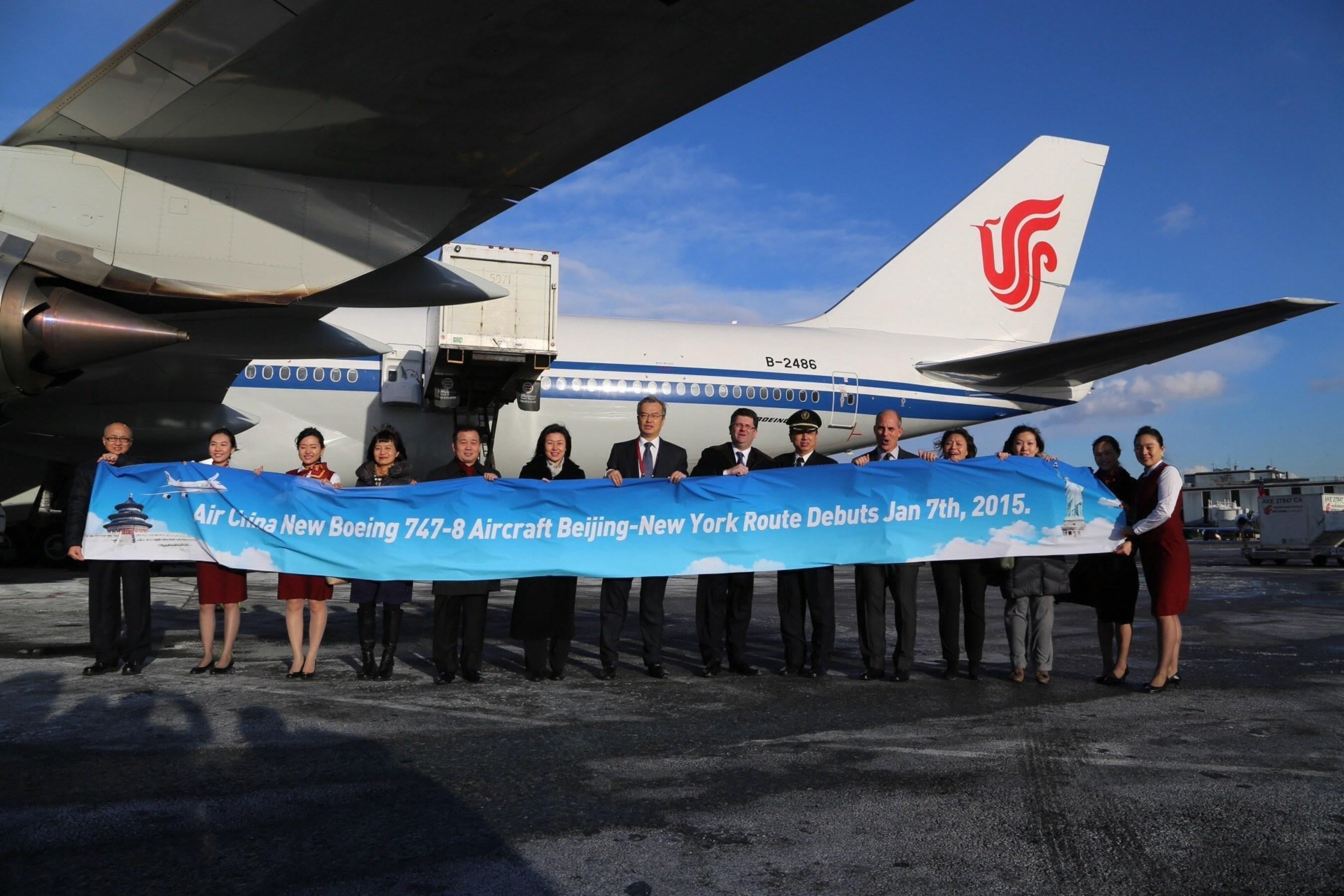 New York Welcomes Air China's New-Generation B747-8 Intercontinental