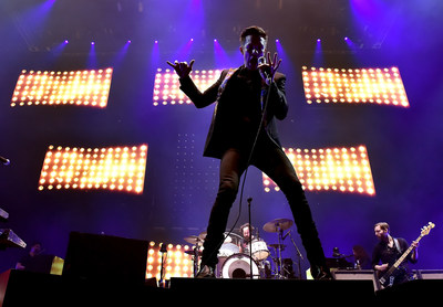 """The crowd at T-Mobile Arena sang along to The Killers' set of their biggest hits, including """"Mr. Brightside,"""" """"Smile Like You Mean It,"""" and """"All These Things That I've Done."""" Photo credit: Kevin Winters / Getty"""
