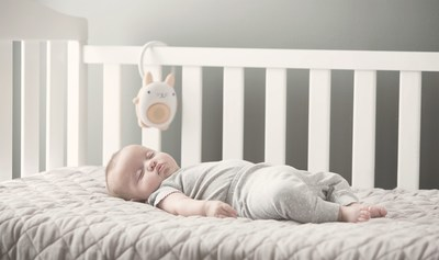 SoundBub is preloaded with soothing white noise to help your child drift off to sleep.
