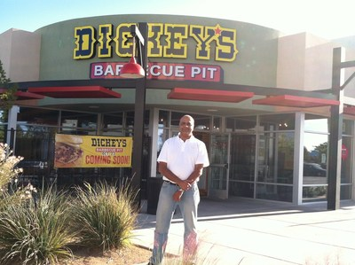 Deepak Shah outside the first Dickey's Barbecue Pit in Albuquerque. His new location kicks off with a three day grand opening celebration.