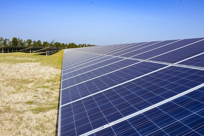 The 200-plus acre Fort Benning solar site uses nearly 134,000 photovoltaic panels to produce energy for Georgia homes and businesses.