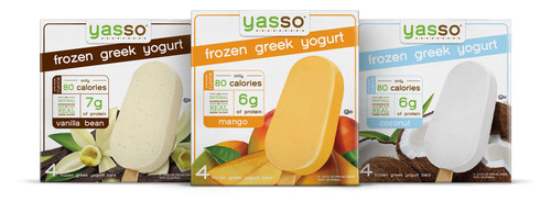 Yasso(R) Frozen Greek Yogurt Introduces Three New Flavors to Their Award-Winning Product Line - The Creator of World's First Frozen Greek Yogurt Bars Adds Coconut, Mango and Vanilla Bean to expand on their already delicious and nutritious flavor lineup.  (PRNewsFoto/Yasso)