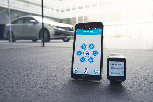 Hyundai Blue Link to debut smartwatch app at 2015 Consumer Electronics Show and PepCom's Digital Experience