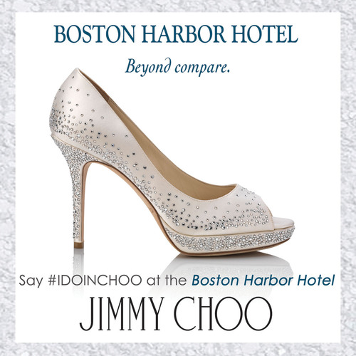 Say #IDOINCHOO - The Boston Harbor Hotel and Jimmy Choo Present an Eternally Stylish Wedding Offer.  (PRNewsFoto/Boston Harbor Hotel)