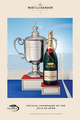 Moet & Chandon Returns To The US Open To Celebrate Tennis As The Official Champagne For The Second Consecutive Year.  (PRNewsFoto/Moet & Chandon)