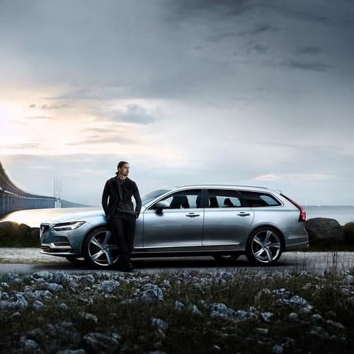 Volvo Cars V90 campaign features footballing legend Zlatan Ibrahimovic (PRNewsFoto/Volvo Car Group)