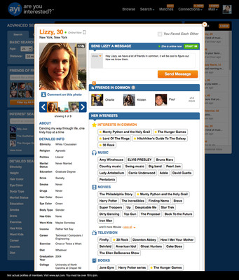 AYI - Profile View.  (PRNewsFoto/SNAP Interactive, Inc.)