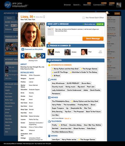 AYI - Profile View. (PRNewsFoto/SNAP Interactive, Inc.) (PRNewsFoto/SNAP INTERACTIVE, INC.)