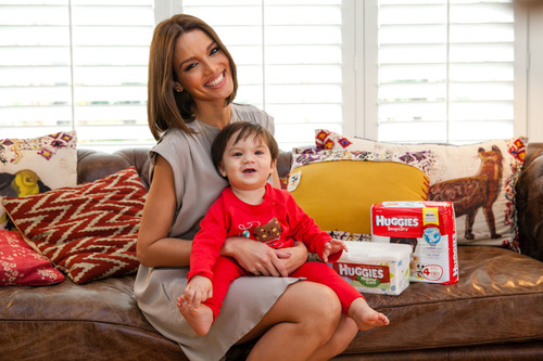 Former Miss Universe and New Mom Zuleyka Rivera Partners with Huggies Brand to Put New & Improved Products to the Test.  (PRNewsFoto/Kimberly-Clark Corporation)