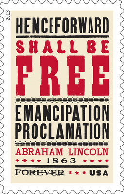 USPS Honors 150th Anniversary of Emancipation Proclamation with New Stamp.  (PRNewsFoto/United States Postal Service)