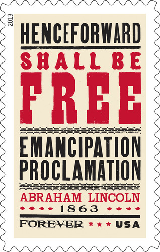 USPS Honors 150th Anniversary of Emancipation Proclamation with New Stamp.  (PRNewsFoto/United States Postal ...
