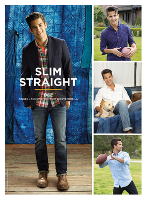 Dez Duron, singer/songwriter from Shreveport, LA, shows off the American Eagle Slim Straight jean. (PRNewsFoto/American Eagle Outfitters, Inc.)