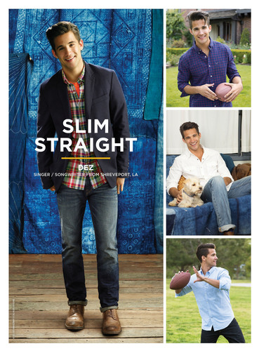 Dez Duron, singer/songwriter from Shreveport, LA, shows off the American Eagle Slim Straight jean. ...