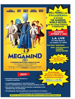 Megamind: Gathering of Superheroes, Saturday, Oct. 2.  (PRNewsFoto/DreamWorks Animation, Jose Montemayor)