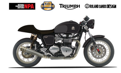 NADAguides.com and National Powersports Auctions Announce Giveaway of Custom Triumph Thruxton at Dealer Expo.  (PRNewsFoto/NADAguides)