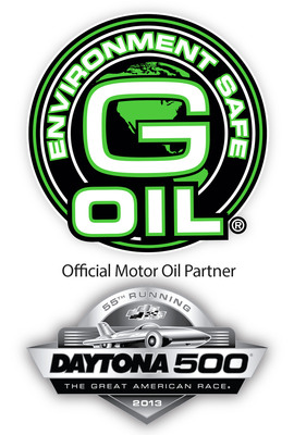 """Daytona International Speedway today announced a new partnership with Green Earth Technologies, Inc., naming the Florida-based makers of G-OIL, the first bio-based full synthetic oil used in NASCAR competition, as the """"Official Motor Oil"""" of Daytona International Speedway and the Daytona 500. (PRNewsFoto/Green Earth Technologies, Inc.) (PRNewsFoto/GREEN EARTH TECHNOLOGIES, INC.)"""